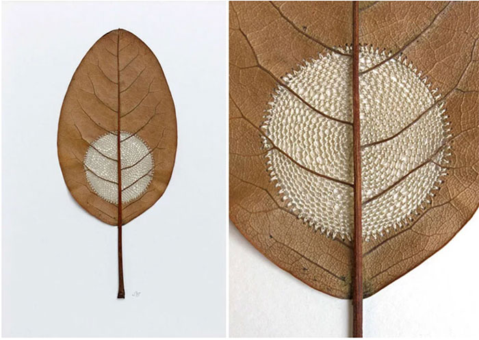 """crocheted leafs"