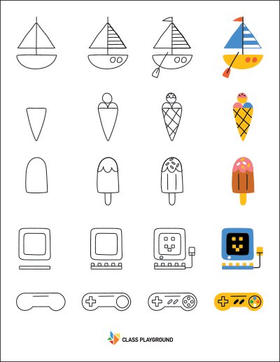 Printable How To Draw With Shapes
