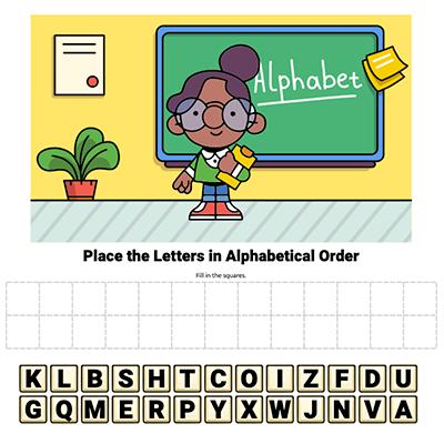interactive alphabetical order